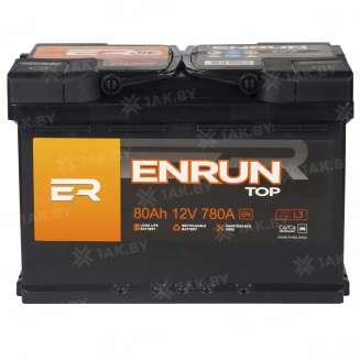 Аккумулятор ENRUN (80 Ah) 780 A, 12 V Обратная, R+ 1