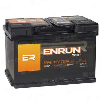 Аккумулятор ENRUN (80 Ah) 780 A, 12 V Прямая, L+ 2