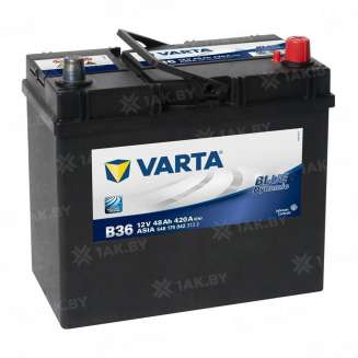 Аккумулятор VARTA (48 Ah) 420 A, 12 V Обратная, R+ 0