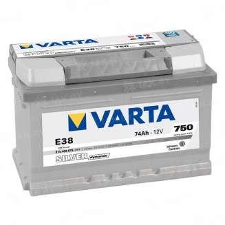 Аккумулятор VARTA (74 Ah) 750 A, 12 V Обратная, R+ 0