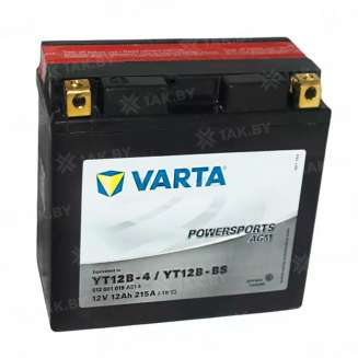 Аккумулятор VARTA (12 Ah) 215 A, 12 V Прямая, L+ 0