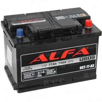 Аккумулятор ALFA (77 Ah) 740 A, 12 V Обратная, R+ 0
