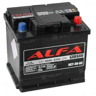 Аккумулятор ALFA (50 Ah) 420 A, 12 V Обратная, R+ 0