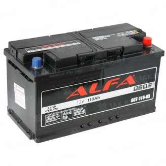 Аккумулятор ALFA (110 Ah) 900 A, 12 V Обратная, R+ 0