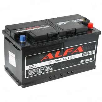 Аккумулятор ALFA (100 Ah) 840 A, 12 V Обратная, R+ 0