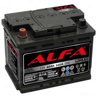Аккумулятор ALFA (60 Ah) 540 A, 12 V Прямая, L+ 0