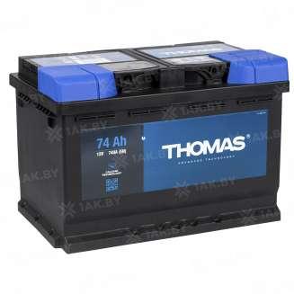 Аккумулятор THOMAS (74 Ah) 740 A, 12 V Обратная, R+ 0