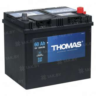 Аккумулятор THOMAS (60 Ah) 550 A, 12 V Обратная, R+ 0