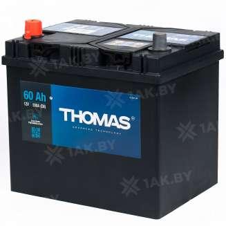 Аккумулятор THOMAS (60 Ah) 550 A, 12 V Прямая, L+ 0