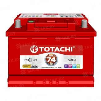 Аккумулятор TOTACHI (74 Ah) 610 А, 12 V Обратная, R+ 0