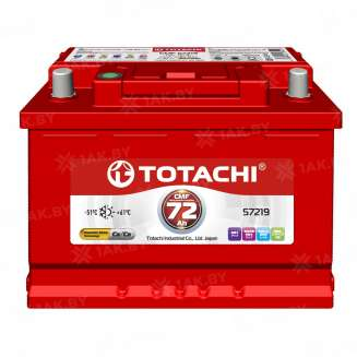 Аккумулятор TOTACHI (72 Ah) 540 A, 12 V Прямая, L+ 0