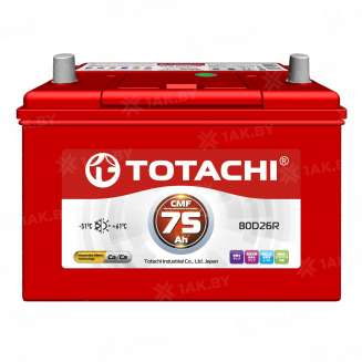 Аккумулятор TOTACHI (75 Ah) 580 А, 12 V Обратная, R+ 0