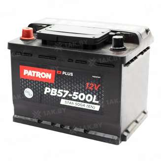 Аккумулятор Patron (57 Ah) 500 A, 12 V Прямая, L+ 0