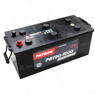 Аккумулятор Patron (190 Ah) 1000 A, 12 V Обратная, R+ 0