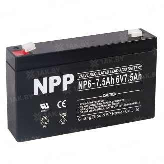 Аккумулятор NPP (7.5 Ah) , 6 V 0