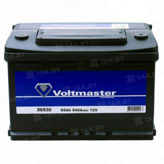 Аккумулятор VOLTMASTER (65 Ah) 540 A, 12 V Обратная, R+ 0