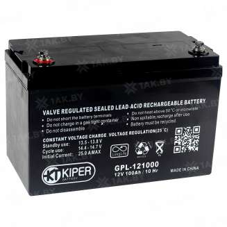 Аккумулятор Kiper (100 Ah) , 12 V 0