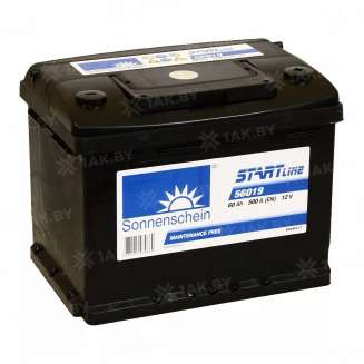 Аккумулятор SONNENSCHEIN (60 Ah) 500 A, 12 V Обратная, R+ 0