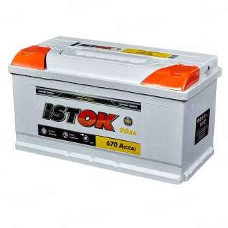 Аккумулятор ISTOK (90 Ah) 670 A, 12 V Обратная, R+ 0