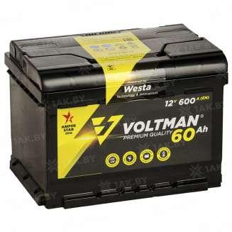 Аккумулятор VOLTMAN (60 Ah) 600 A, 12 V Прямая, L+ 0