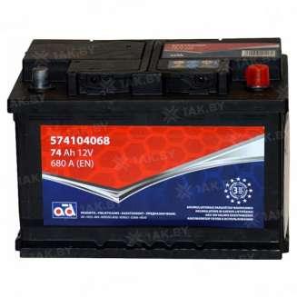 Аккумулятор AD (74 Ah) 680 A, 12 V Обратная, R+ 0