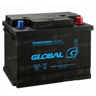 Аккумулятор GLOBAL (50 Ah) 480 A, 12 V Обратная, R+ 0