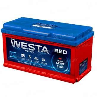 Аккумулятор WESTA (110 Ah) 880 A, 12 V Прямая, L+ 0