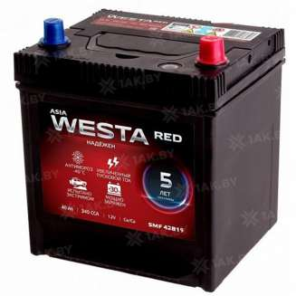 Аккумулятор WESTA (40 Ah) 340 A, 12 V Обратная, R+ 0