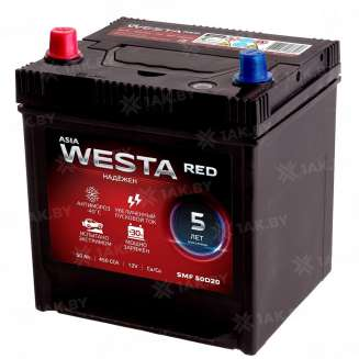 Аккумулятор WESTA (50 Ah) 450 A, 12 V Прямая, L+ 0