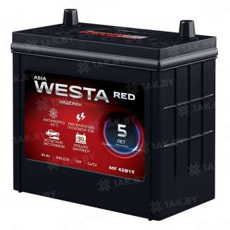 Аккумулятор WESTA (40 Ah) 340 A, 12 V Прямая, L+ 0