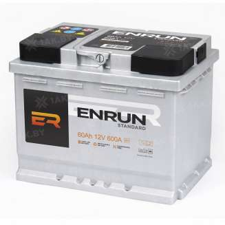 Аккумулятор ENRUN (60 Ah) 590 A, 12 V Обратная, R+ 0