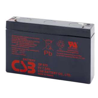 Аккумулятор CSB (7.2 Ah) , 6 V 0