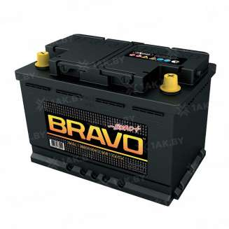 Аккумулятор BRAVO (74 Ah) 650 A, 12 V Обратная, R+ 0