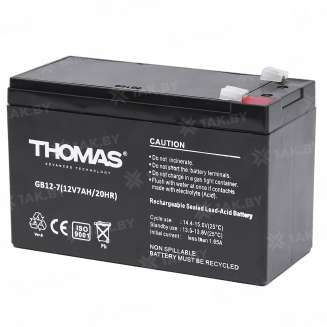 Аккумулятор THOMAS (7 Ah) , 12 V 2