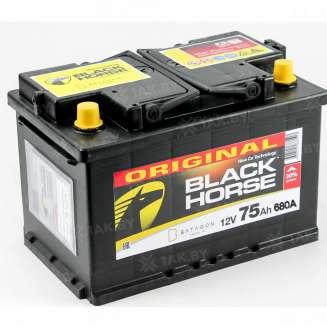Аккумулятор BLACK HORSE (75 Ah) 680 A, 12 V Обратная, R+ 0