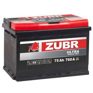 Аккумулятор ZUBR (75 Ah) 760 A, 12 V Прямая, L+ 1