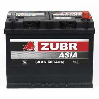 Аккумулятор ZUBR (68 Ah) 600 A, 12 V Обратная, R+ 1