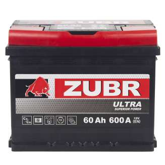 Аккумулятор ZUBR (60 Ah) 600 A, 12 V Прямая, L+ 2