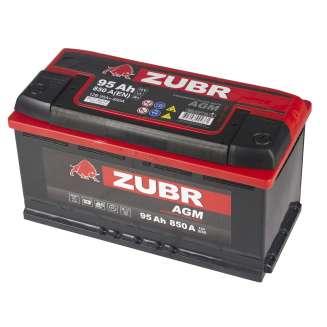Аккумулятор ZUBR (95 Ah) 850 A, 12 V Обратная, R+ 0