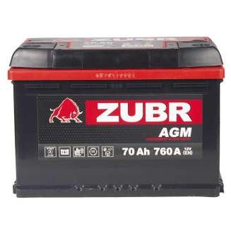 Аккумулятор ZUBR (70 Ah) 760 A, 12 V Обратная, R+ 2