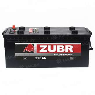 Аккумулятор ZUBR (220 Ah) 1300 A, 12 V Обратная, R+ 0