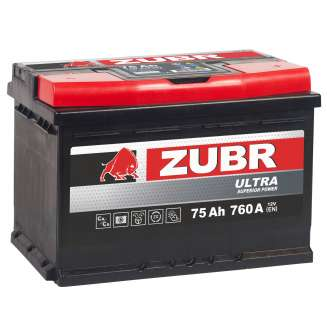Аккумулятор ZUBR (75 Ah) 760 A, 12 V Обратная, R+ 0