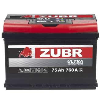 Аккумулятор ZUBR (75 Ah) 760 A, 12 V Обратная, R+ 1