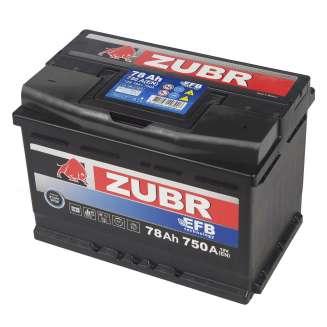 Аккумулятор ZUBR (78 Ah) 750 A, 12 V Обратная, R+ 1