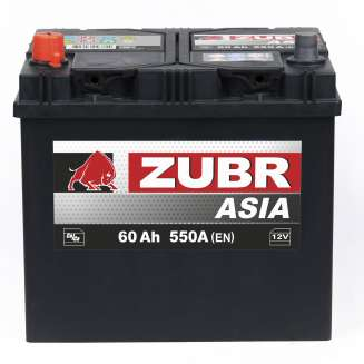 Аккумулятор ZUBR (60 Ah) 550 A, 12 V Прямая, L+ 0