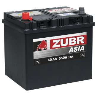 Аккумулятор ZUBR (60 Ah) 550 A, 12 V Прямая, L+ 1