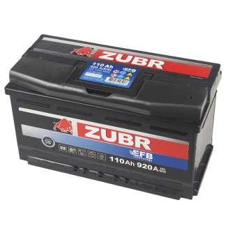 Аккумулятор ZUBR (110 Ah) 920 A, 12 V Обратная, R+ 0