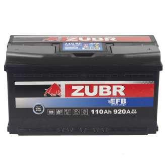 Аккумулятор ZUBR (110 Ah) 920 A, 12 V Обратная, R+ 1