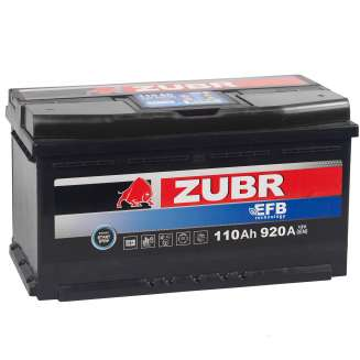 Аккумулятор ZUBR (110 Ah) 920 A, 12 V Обратная, R+ 2