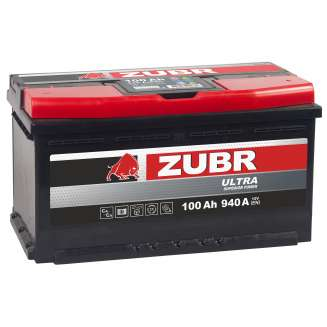 Аккумулятор ZUBR (100 Ah) 940 A, 12 V Обратная, R+ 0